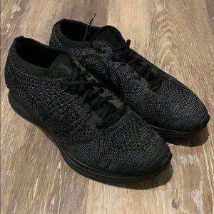 Nike Flyknit Racers triple black size men's 6.5